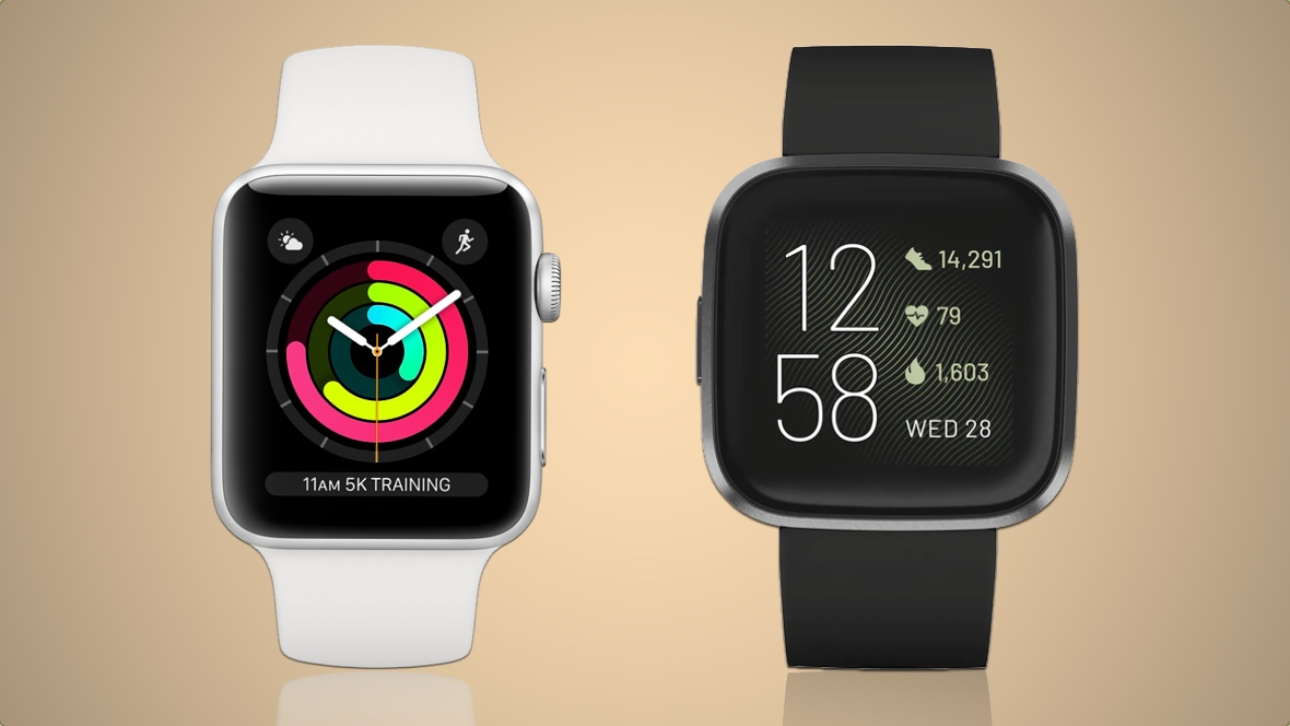 comparatif apple watch series 3 et fitbit versa 2