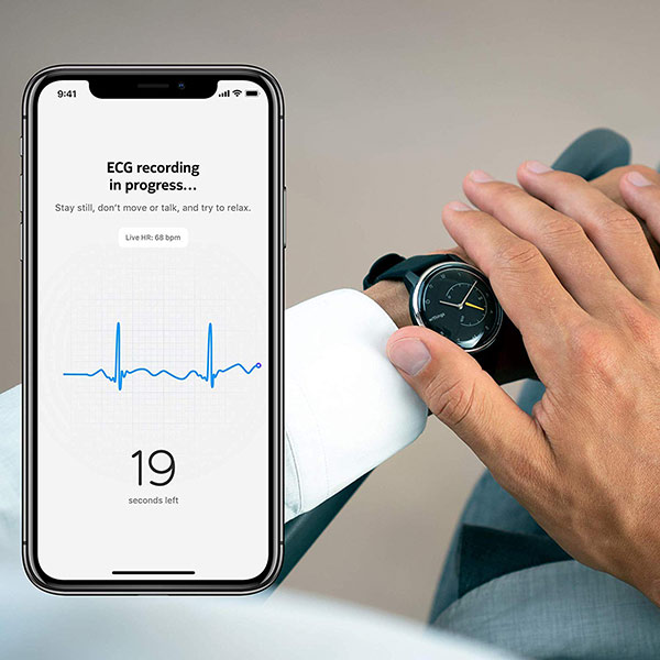 Withings Move ECG moniteur fréquence cardiaque